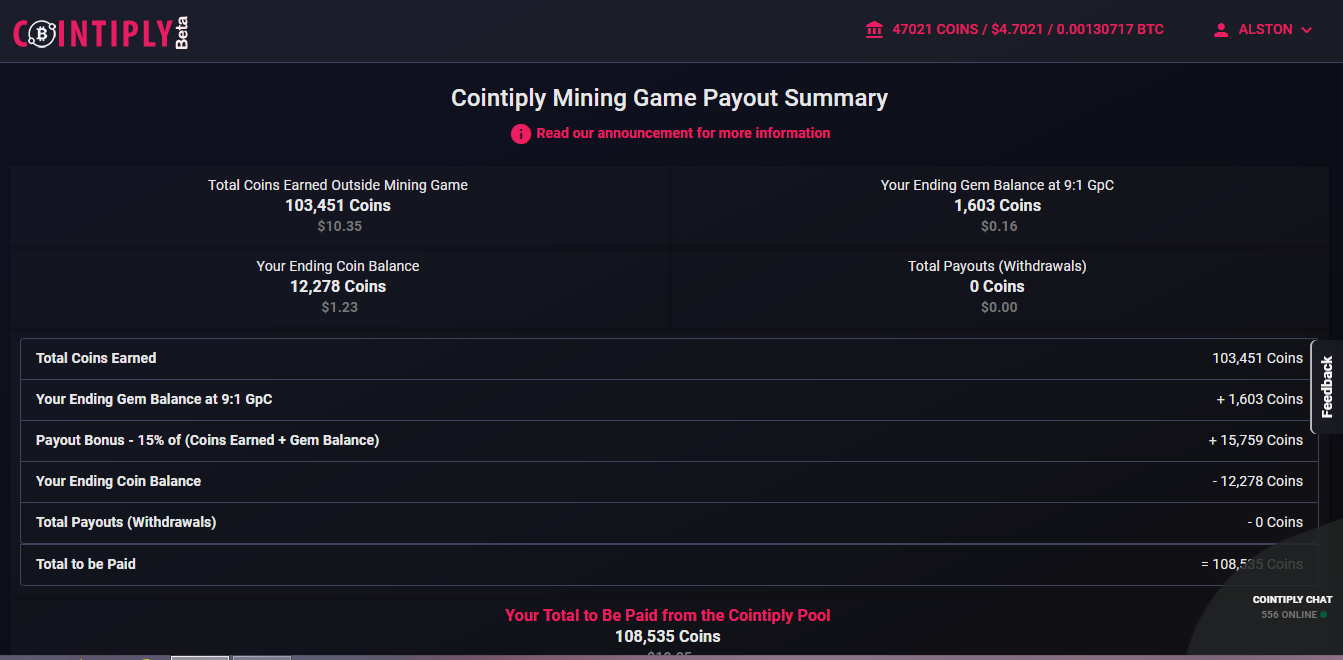 cointiply mining game close – Free Work From Home
